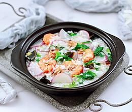 #今天吃什么#海虾皮蛋萝卜粥的做法