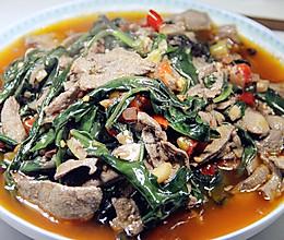 血皮菜炒猪肝的做法