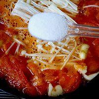 番茄金针菇蛋汤的做法图解9