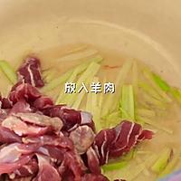 #福临门鲜爽见面#酸汤羊肉汤面的做法图解4