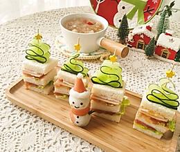 圣诞主题三明治的做法