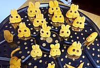 奶香南瓜小兔子馒头-宝宝辅食的做法
