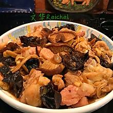 云耳金针菜香菇蒸滑鸡