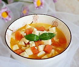 #春季食材大比拼#西红柿豆腐汤✧宝宝辅食的做法