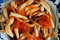 番茄炒菌菇的做法