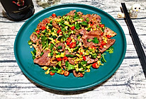 香菜拌牛肉的做法