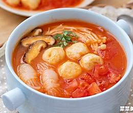 番茄鱼丸汤| 脆嫩爽口的做法