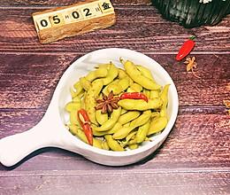 #做道懒人菜,轻松享假期#水煮毛豆的做法