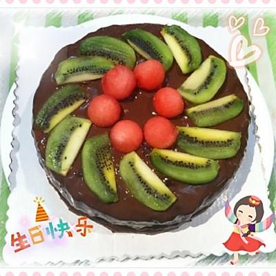 巧克力水果布丁蛋糕