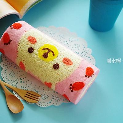 萌兔子彩绘蛋糕卷