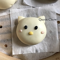 Hello Kitty猫一家人----卡通包子(豆沙馅)的做法图解10