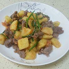 葱香土豆牛肉