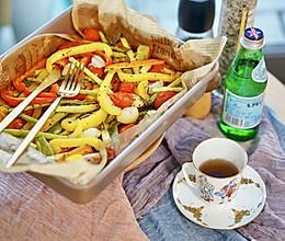 烤箱菜|超简单烤蔬菜,无油烟、食材随意放#硬核菜谱制作人#的做法