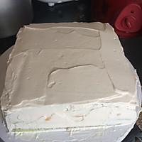 8寸生日蛋糕(方形)的做法图解6