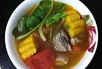 番茄玉米炖排骨的做法