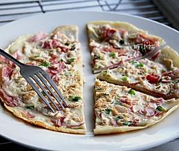 【中式'披萨'蛋饼】10分钟早餐的做法