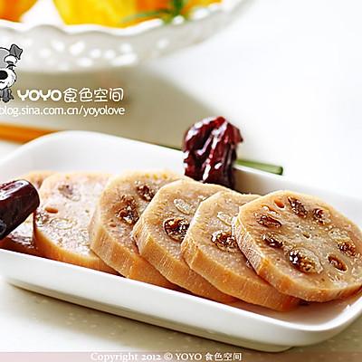 红枣糯米藕