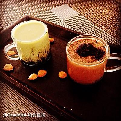 两款简易小奶茶——抹茶红豆奶茶&曲奇可可奶茶