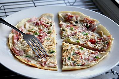 【中式'披薩'蛋餅】10分鐘早餐