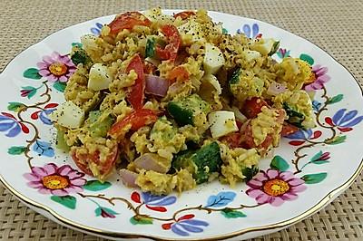 【蔓德拉的厨房】发芽糙米饭沙拉
