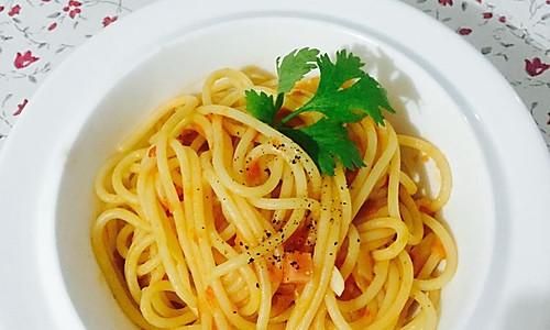 快手番茄意大利面-无肉沫版的做法