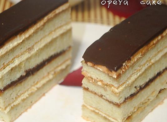 法式甜点欧培拉蛋糕