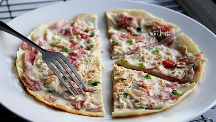 【中式'披萨'蛋饼】10分钟早餐