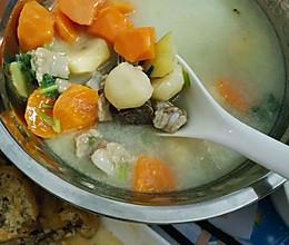 马蹄红萝卜排骨汤的做法