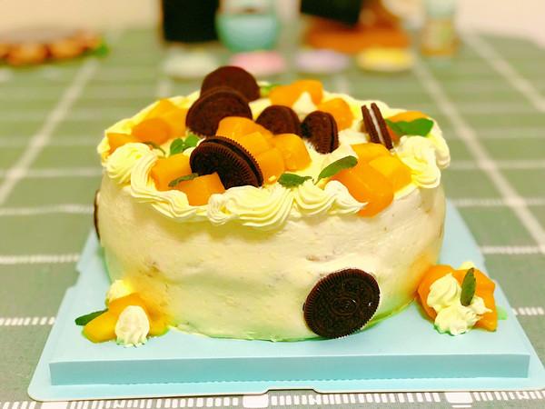芒果夹心奶油蛋糕—8寸的做法