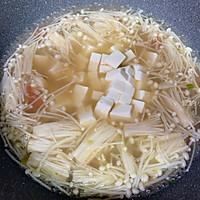 金针菇虾仁豆腐汤#花10分钟,做一道菜!#的做法图解9