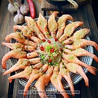 蒜茸粉丝开边虾的做法图解21