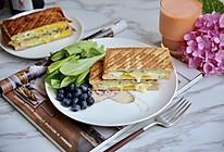 黄瓜鸡蛋热压三明治#花10分钟,做一道菜!#的做法