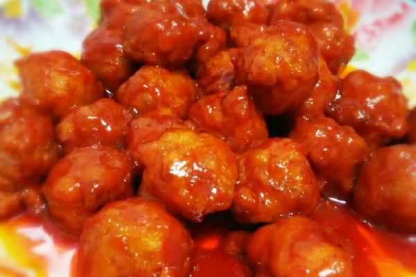 儿童益智菜  (大喜大牛肉粉试用)宝宝菜之~锅包虾球的做法