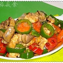 青红椒圈炒鸡丁