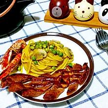 牛排咖喱意面#安记咖喱慢享菜#