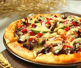 黑椒牛肉披萨#有颜值的实力派#的做法