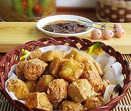炸臭豆腐配自制蘸酱的做法