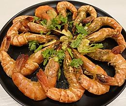 【蒜煎黑虎虾】的做法