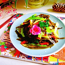 芹菜拌海带丝
