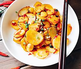 香辣土豆片(少油版)的做法