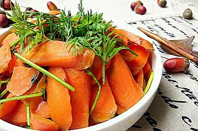 胡蘿卜炒胡蘿卜葉-蜜桃愛私廚營養師抗癌健身減肥素食