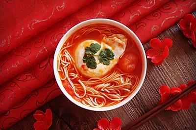 这个冬季你需要一碗温暖的面   西红杮鸡蛋龙须面汤