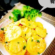 咸鸭蛋黄土豆片