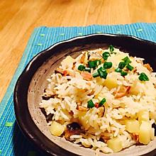 土豆香菇腊肠焖饭