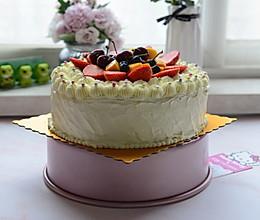 10寸裱花奶油生日蛋糕的做法