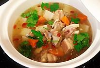 #我们约饭吧#只需三步就能喝到一锅香浓的羊排萝卜汤的做法