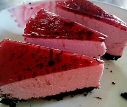 免烤蓝莓紫薯冻芝士蛋糕的做法