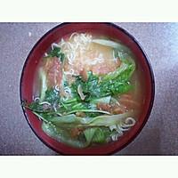无敌开胃健康的番茄青菜面的做法图解5