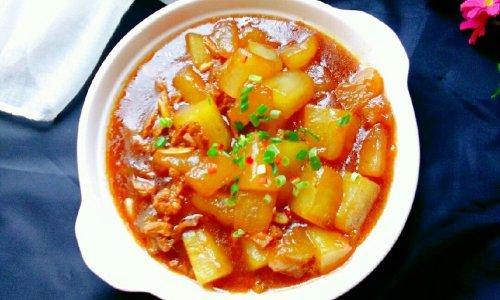 #做道懒人菜,轻松享假期#+肉末烧冬瓜的做法
