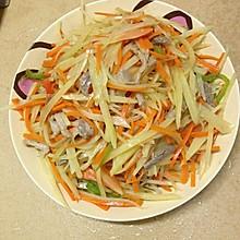 胡萝卜炝炒土豆丝